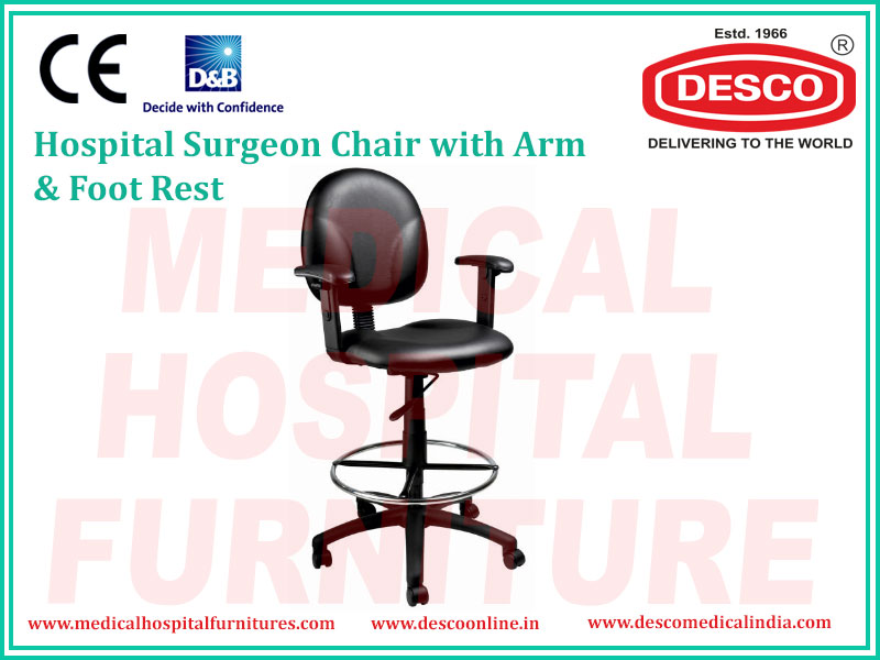 SURGEON CHAIR WITH ARM & FOOT REST