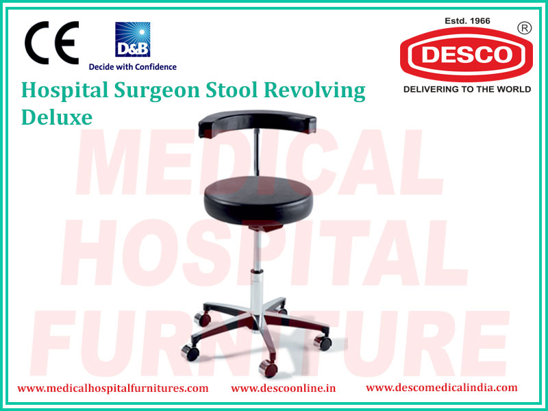 SURGEON STOOL REVOLVING DELUXE