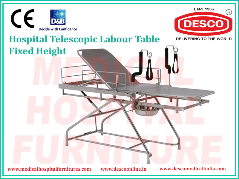 TELESCOPIC LABOUR TABLE FIXED HEIGHT