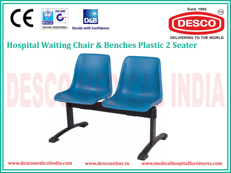 2 SEATER PLASTIC WAITING CHAIR