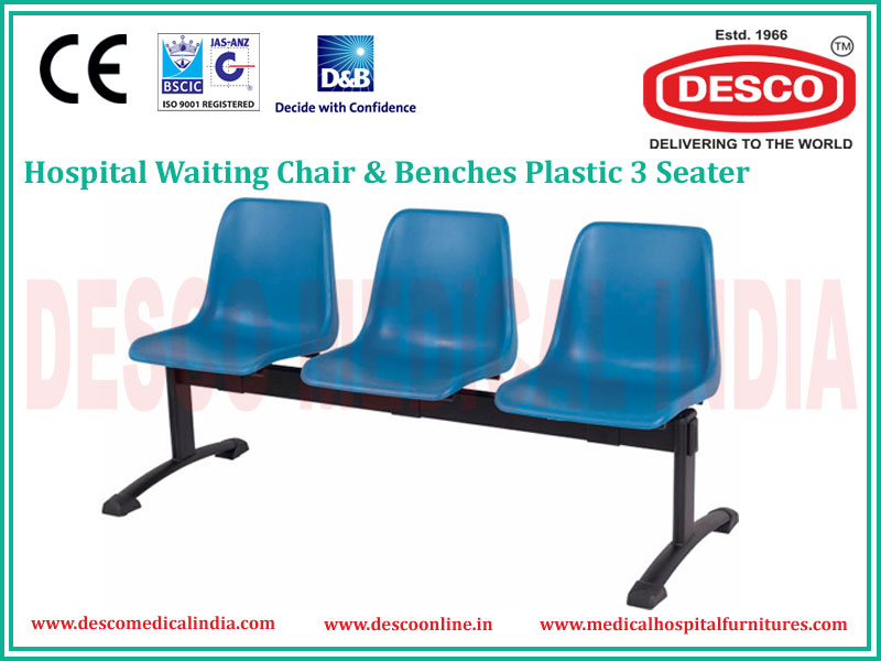 3 SEATER PLASTIC WAITING CHAIR