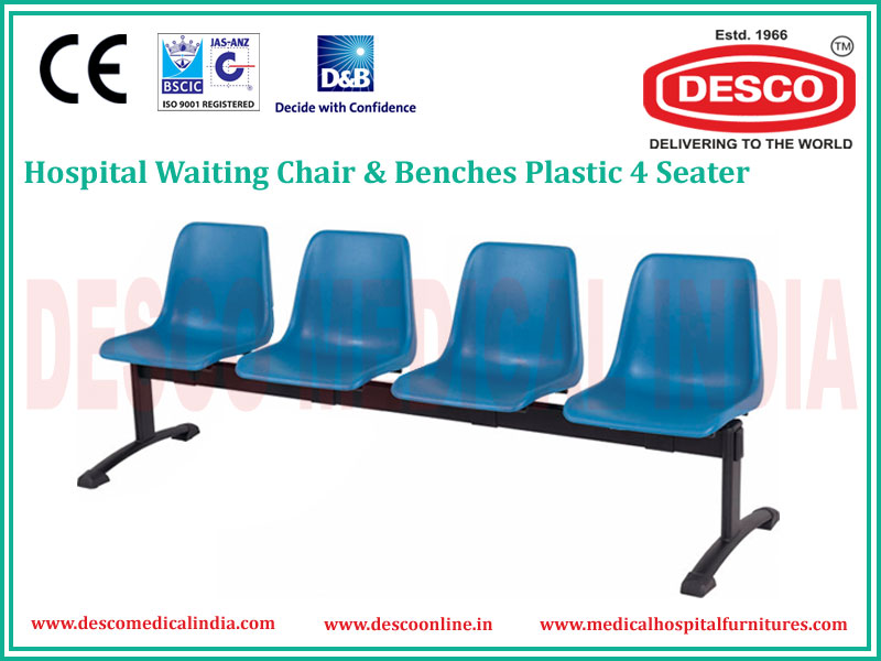 4 SEATER PLASTIC WAITING CHAIR