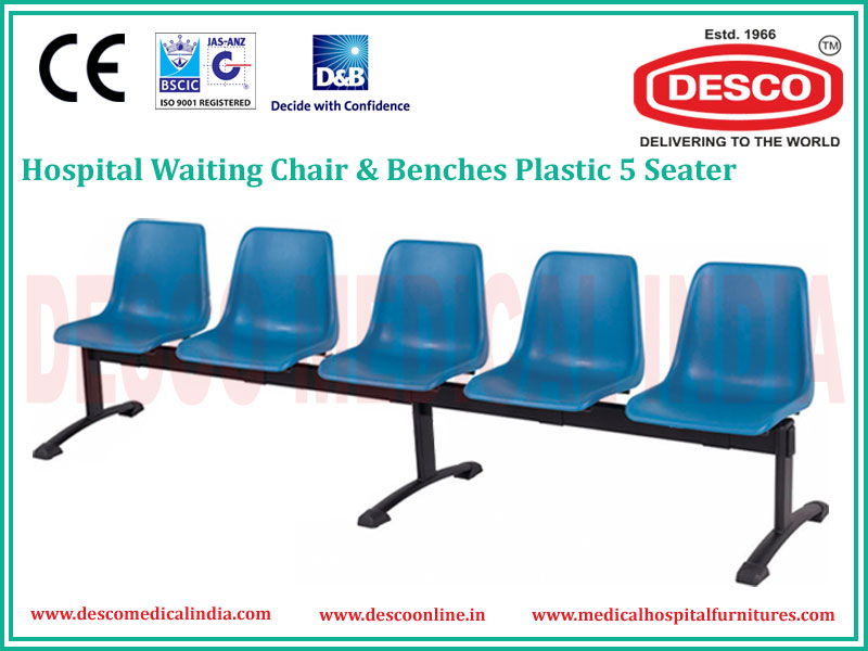 5 SEATER PLASTIC WAITING CHAIR