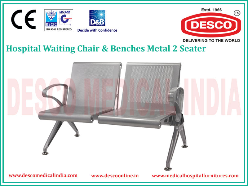 Medical Hospital 2 Seater Metal Waiting Chair