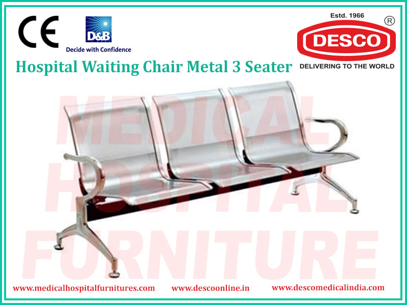 WAITING CHAIR METAL 3 SEATER