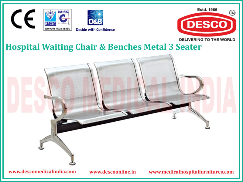 3 SEATER METAL WAITING CHAIR
