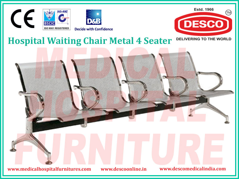 WAITING CHAIR METAL 4 SEATER