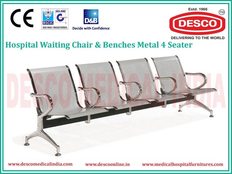 4 SEATER METAL WAITING CHAIR