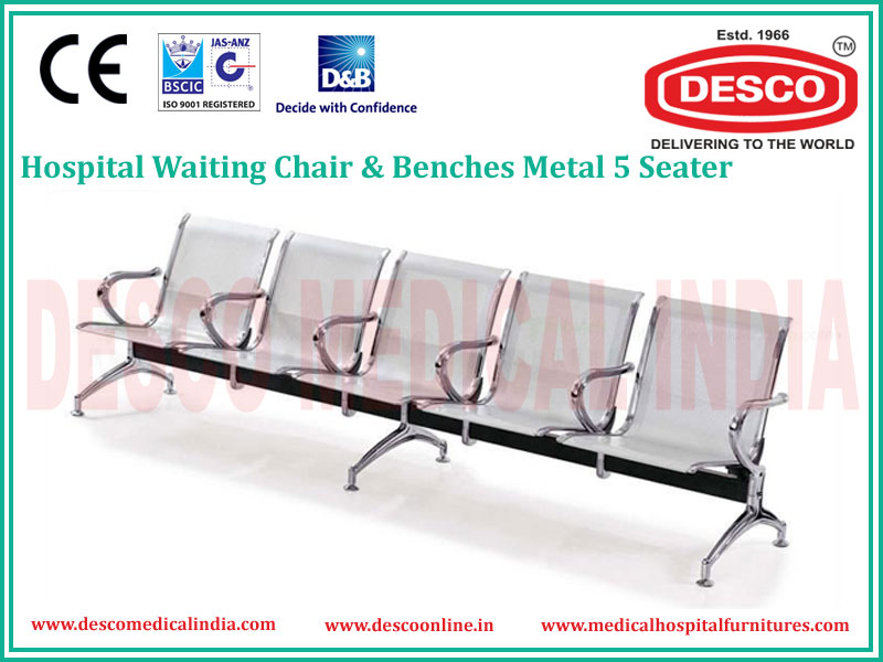 5 SEATER METAL WAITING CHAIR