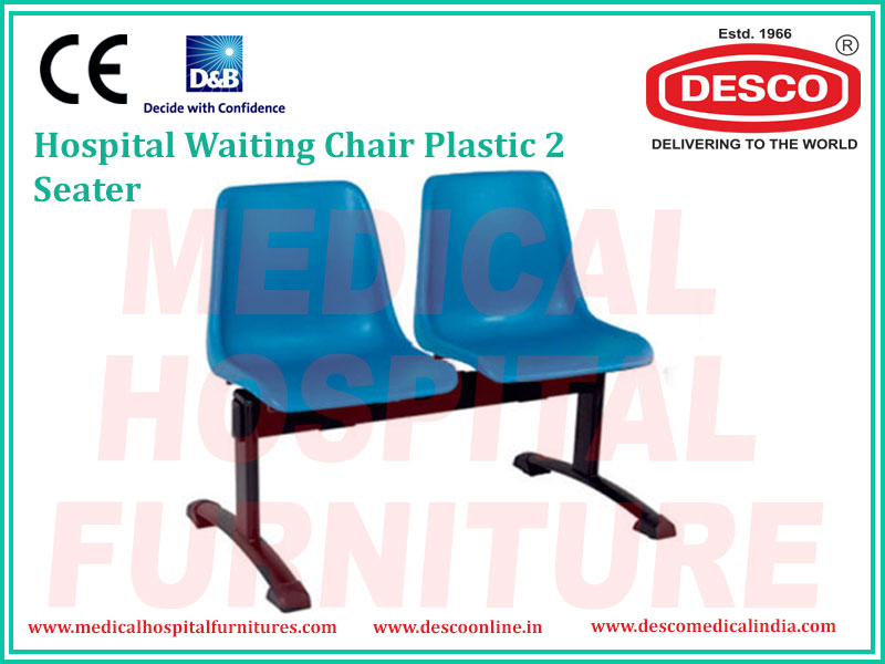 WAITING CHAIR PLASTIC 2 SEATER