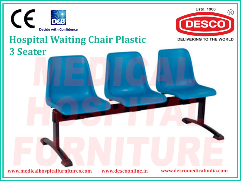 WAITING CHAIR PLASTIC 3 SEATER