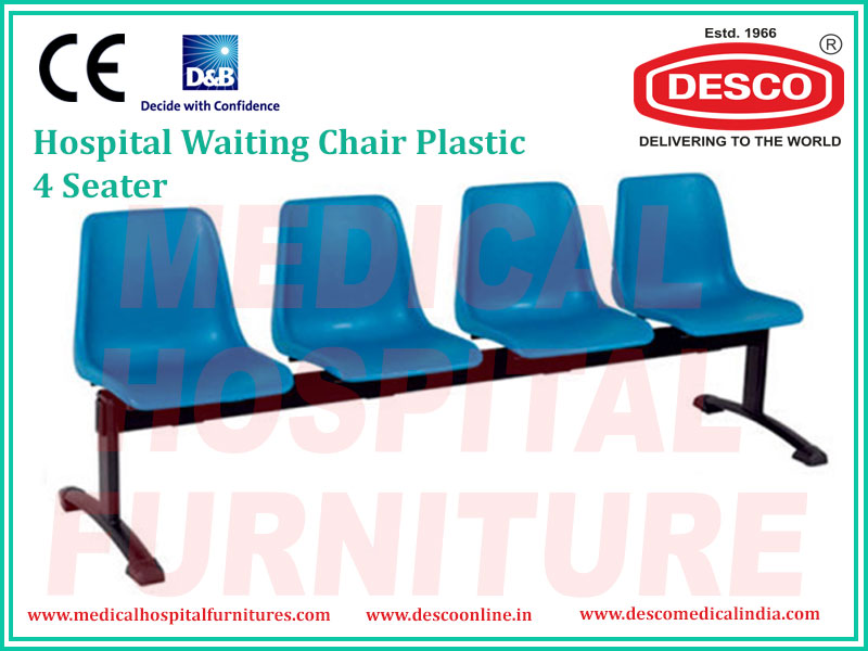 WAITING CHAIR PLASTIC 4 SEATER