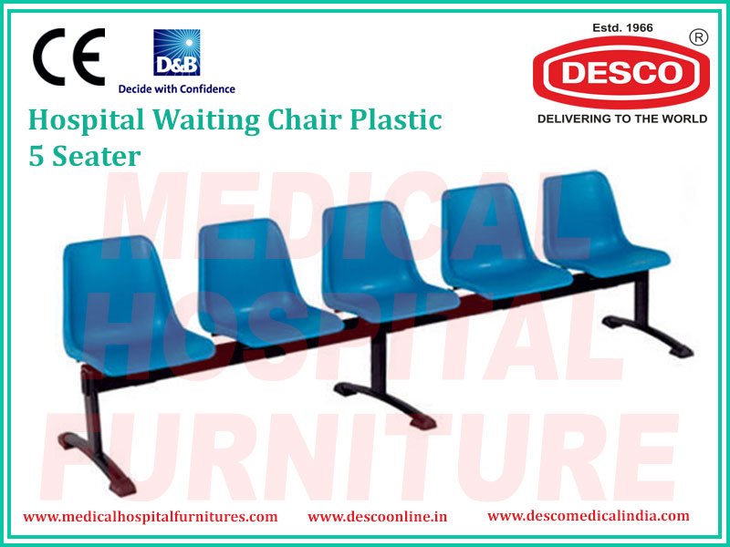 WAITING CHAIR PLASTIC 5 SEATER