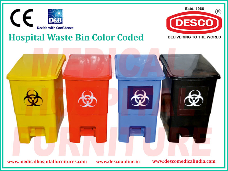 WASTE BIN COLOR CODED