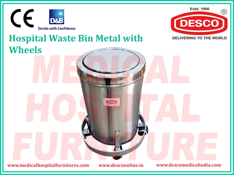 WASTE BIN METAL PLAIN