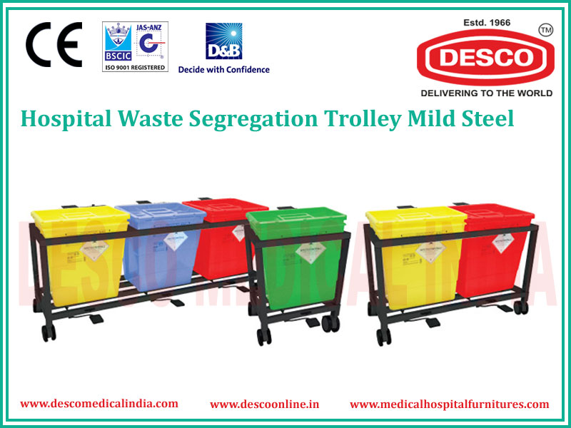 WASTE SEGREGATION TROLLEY M.S